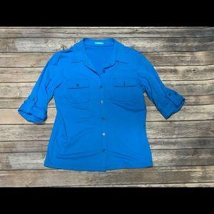 Button down blue top